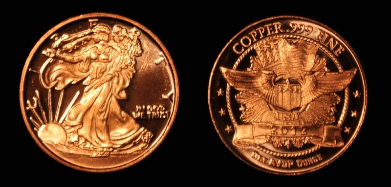 2012 American Eagle in PURE COPPER
