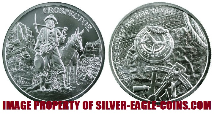 Mint Roll Tube 20 Provident Prospector Silver Rounds 20