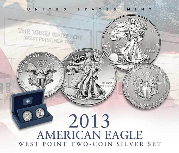 2013 American Eagle West Point Two-Coin Silver Coin Set
