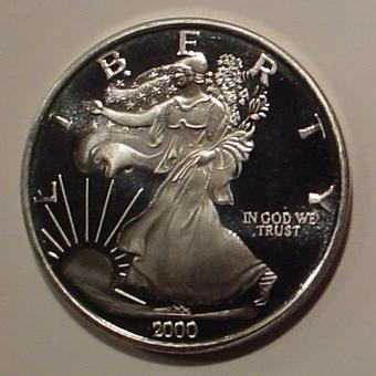2000 Quot Millennium Quot Silver Eagle Proof One Ounce Silver Round