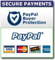 Pay us securely with any major credit card through PayPal!